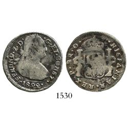 Pasto, Colombia, bust 2 reales, Ferdinand VII, 1822O.