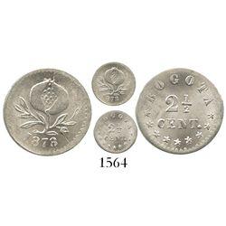 Bogota, Colombia, 2-1/2 centavos, 1878.