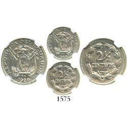Ecuador (struck in Philadelphia), nickel 2-1/2 centavos, 1928, encapsulated NGC MS 62.