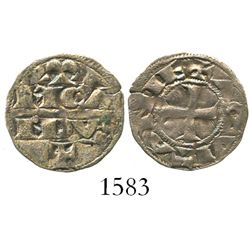"Anglo-Gallic Aquitaine, deniers, Richard I ""lionheart"" (1169-85), RICARDVS on obverse, cross on reve"