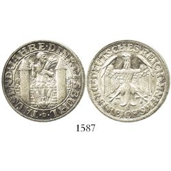 Germany (Weimar Republic, Munich mint), 3 reichsmark, 1928-D, Dinkelsbuhl commemorative.