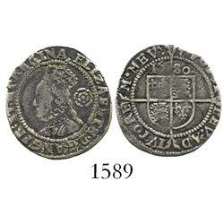 London, England, threepence, Elizabeth I, 1580.