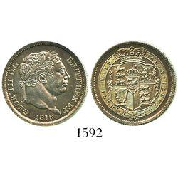 Great Britain (London, England), shilling, George III, 1816.
