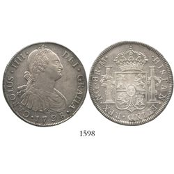 Guatemala, bust 8 reales, Charles IV, 1798M.