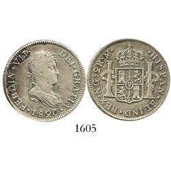 Guatemala, bust 2 reales, Ferdinand VII, 1820M.