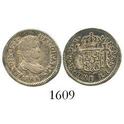 Guatemala, bust 1/2 real, Ferdinand VII, 1819M.