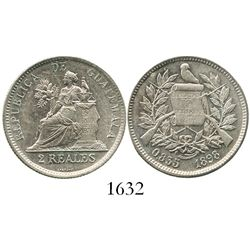 Guatemala, 2 reales, 1898.
