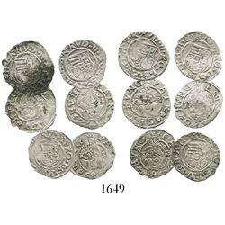 Lot of 6 Hungarian denars, a short date-run of 1580-85 (no duplicates).