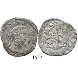 Sicily, Italy (under Spanish rule), 4 tari, Philip IV, 1648IP-MP.