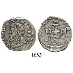 Sicily, Italy (under Spanish rule), 3 tari, Philip IV, 1624IP.