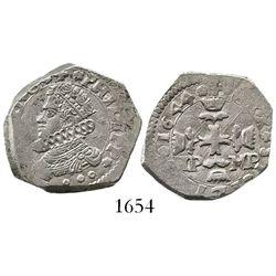 Sicily, Italy (under Spanish rule), 3 tari, Philip IV, 1644IP-MP.