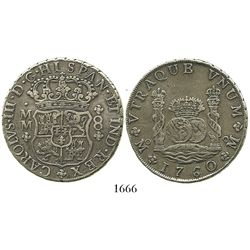 Mexico City, Mexico, pillar 8 reales, Charles III, 1760MM.