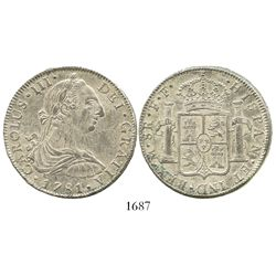 Mexico City, Mexico, bust 8 reales, Charles III, 1781FF.