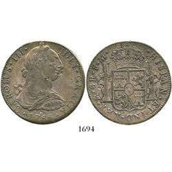 Mexico City, Mexico, bust 8 reales, Charles III, 1788FM, with small chopmarks as from circulation in