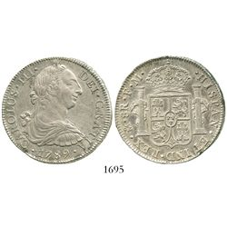 Mexico City, Mexico, bust 8 reales, Charles III, 1789FM.