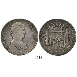Mexico City, Mexico, bust 8 reales, Ferdinand VII, 1814JJ.