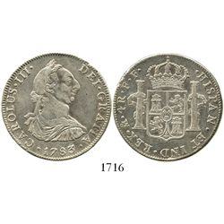 Mexico City, Mexico, bust 4 reales, Charles III, 1783FF.