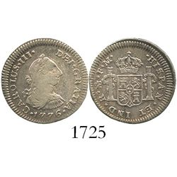 Mexico City, Mexico, bust 1/2 real, Charles III, 1776FM.