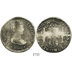 Durango, Mexico (War of Independence), bust 8 reales, Ferdinand VII, 1818CG/RM.
