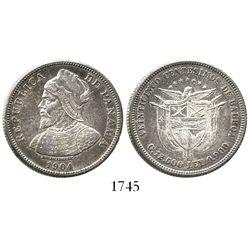 Panama, 25 centesimos, 1904.