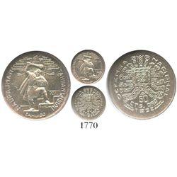 Peru, 50 centavos (token coinage), 1932, National Defense, encapsulated NGC MS 64.