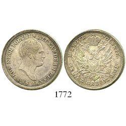 Poland, 2 zlote, Alexander I, 1821-IB.