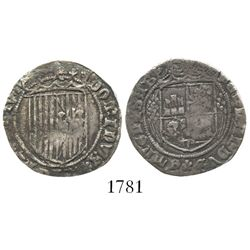 Segovia, Spain, 1 real, Ferdinand-Isabel, first type (prior to 1497 pragmatica), rare.