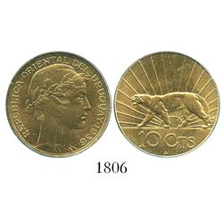 Uruguay (struck in Paris), aluminum-bronze 10 centesimos, 1936-A, encapsulated PCGS MS 65.