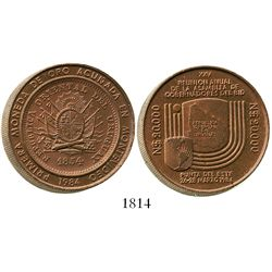 Uruguay, copper piedfort (triple thickness) 20,000 nuevos pesos, 1984, Inter-American Bank of Develo