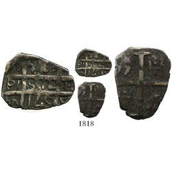 """Barinas (Caujaral), Venezuela, """"imitation cob"""" 1 real (""""chipi-chipi""""), """"145"""" date (early 1800s)."""