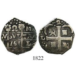 "Caracas, Venezuela, ""imitation cob"" 2 reales, date ""751"" (early 1800s), rare."