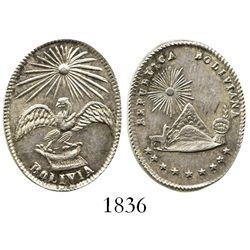 Potosi, Bolivia, small oval silver medal, 1800s, ex-Derman.