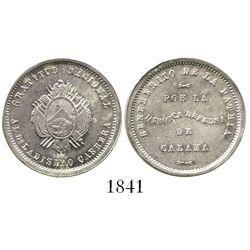 Potosi, Bolivia, 20 centavos silver medal, (1879), Cabrera, ex-Derman.