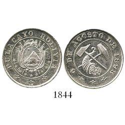 Potosi, Bolivia, 20 centavos-sized silver medal,1893, Pulacayo, ex-Derman.