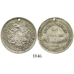 Potosi, Bolivia, 50 centavos silver medal, 1906, Montes, ex-Derman.