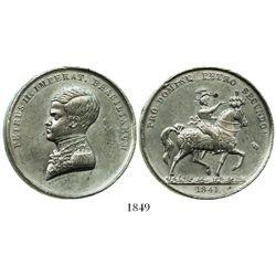 Brazil, tin proclamation medal, Pedro II (in uniform), 1841 (W.J. Taylor on truncation).
