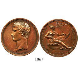 France, copper medal, Napoleon, AN 4 (1795/6), conservatrix fortune.