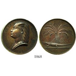 France, copper medal, Napoleon (as pharaoh?), AN VIII (1799/1800), conquest of upper Egypt.