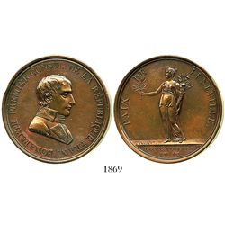 France, large copper medal, Napoleon, AN IX (1800/1), Peace of Luneville.