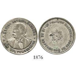 Guatemala, silver medal, 1904, Manuel Estrada Cabrera.