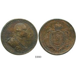 Mexico City, Mexico, bronze proclamation medal, Charles IV, 1789, mining issue, ex-Bir