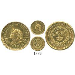 Venezuela, small gold medal, (1900s?), Conopoima.