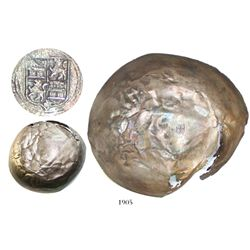 Silver bowl with lions-and-castles tax-stamp.