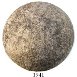 Spanish stone roundshot (cannonball) from a 1588 Spanish Armada wreck in the straits of Dover off En