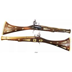 Spanish miquelet blunderbuss, 1700s-1800s, made for Mediterranean market.