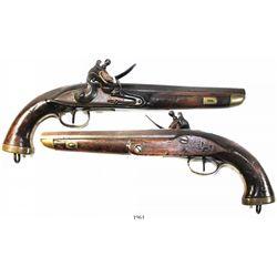 Flintlock pistol, European (naval), ca. 1800-1820.
