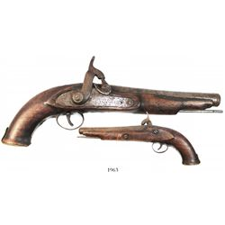 English percussion pistol, 1800s.