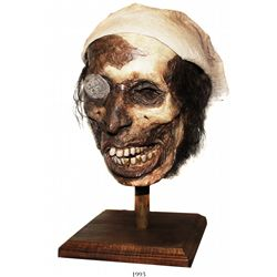 Hand-crafted mummified pirate head by local artist Barry Anderson.