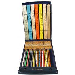 Salesman Sample Pencils and Rulers Case