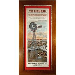 The Diamond Wind Mill Paper Sign